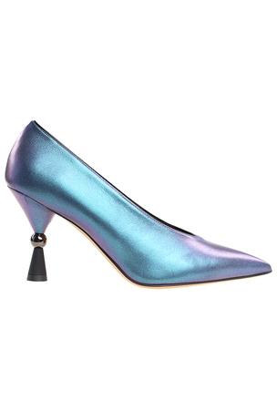 Туфли с голографическим напылением