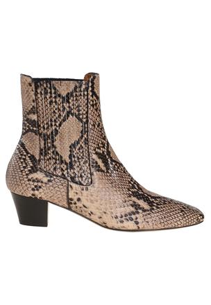 Ботинки с принтом кожи рептилии