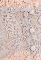 Платье-миди из кружева макраме