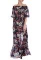 Шёлковое платье-макси с цветами