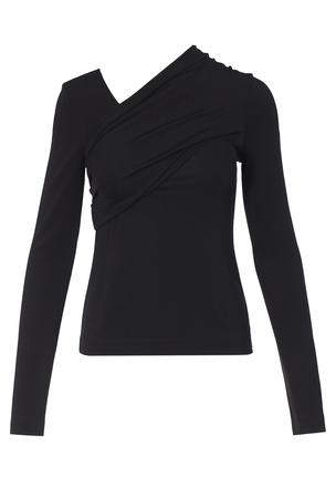 Блуза с асимметричным воротом