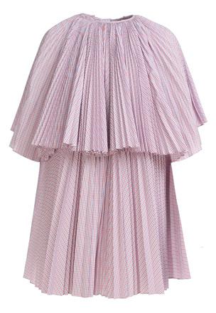 Платье-плиссе в клетку