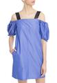 Платье-мини со спущенными рукавами