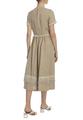 Платье из льна с бахромой