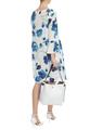 Шёлковое платье с акварельным принтом