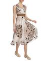 Платье-миди с цветочным орнаментом