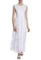 Двухслойное платье-миди с поясом