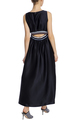 Асимметричное платье-миди из сатина