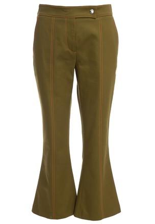 Укороченные брюки-клёш