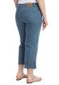Укороченные джинсы с ажурным краем
