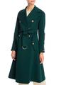 Двубортное пальто из шерстяного бленда