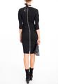 Платье-футляр с драпировкой и молнией