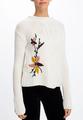 Вязаный свитер с аппликацией
