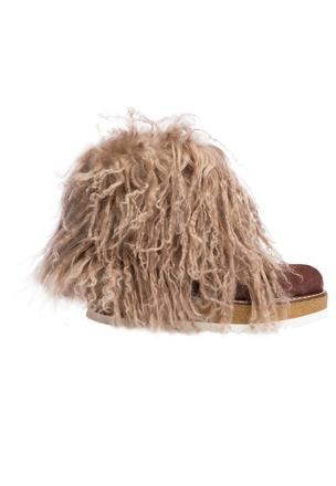 Ботинки с мехом ламы