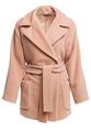 Укороченное пальто-халат